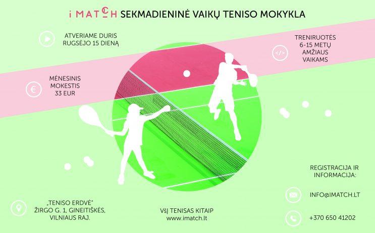 Sekmadieninė vaikų teniso mokykla nuotrauka